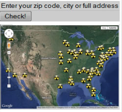 Find nuclear reactors by zip code at nukepills.com